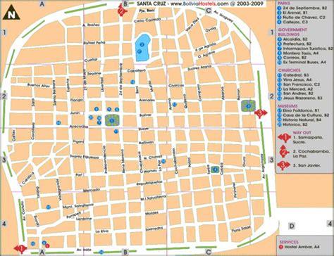 Santa Cruz Tourist Map   santa cruz bolivia • mappery