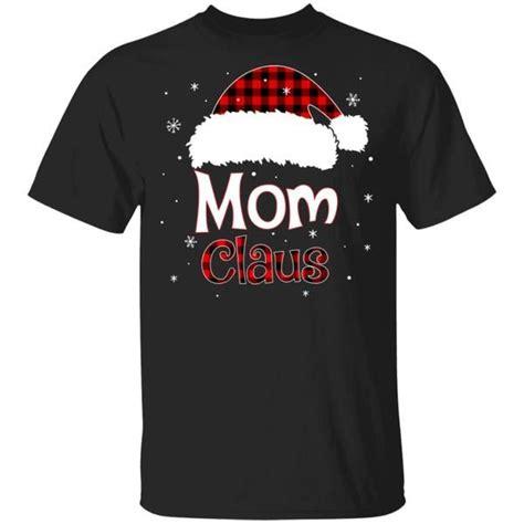 Santa Mom Claus Red Plaid F... T Shirt Hoodie # ...