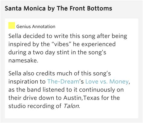Santa Monica – Santa Monica Lyrics Meaning