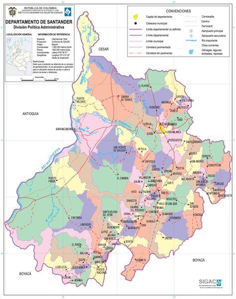 Santander Colombia Map