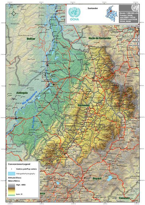 SANTANDER; MAPA DE CIUDADES Y MUNICIPIOS   Colombiamania.com