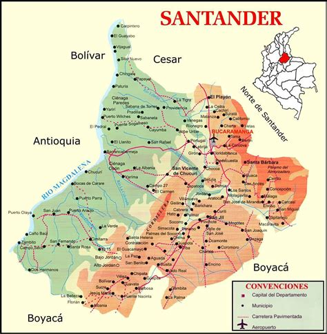 Santander road map   Full size
