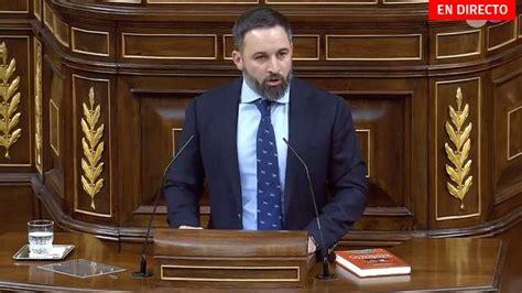Santiago Abascal en el debate de investidura de Pedro ...