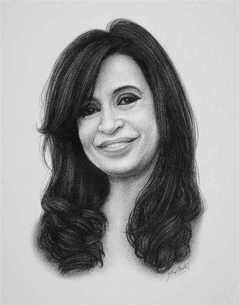 Santiago Oliveto: Retrato a lápiz de la Presidenta ...