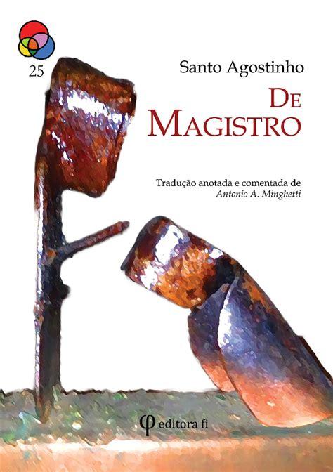 Santo Agostinho   De Magistro   Baixar pdf de Docero.com.br