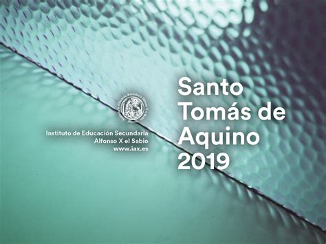 Santo Tomás de Aquino 2019 – IES Alfonso X el Sabio