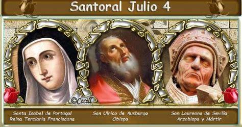 Santoral: Santoral del 4 de Julio