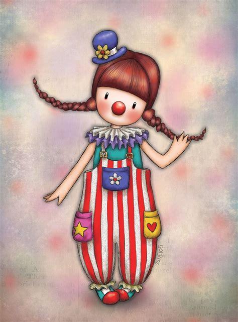 Santoro Clown in 2019 | Cute drawings, Whimsical art, Cute art