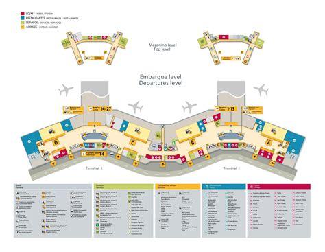 Sao Paulo gru airport map   Sao Paulo international ...