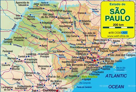 Sao Paulo Map   TravelsFinders.Com