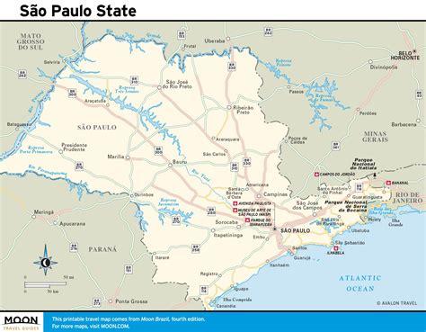 Sao Paulo state map   São Paulo state map  Brazil