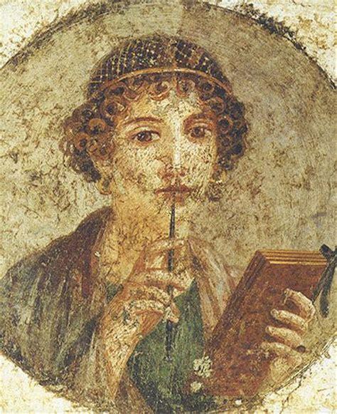 Sappho Portrait from pompeii   Rat Stash   Art, Pompeii ...