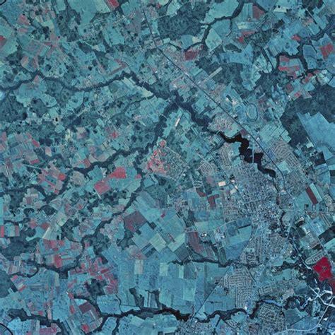 Satellite view of Dover, Delaware, 1982 Poster Print  13 x ...