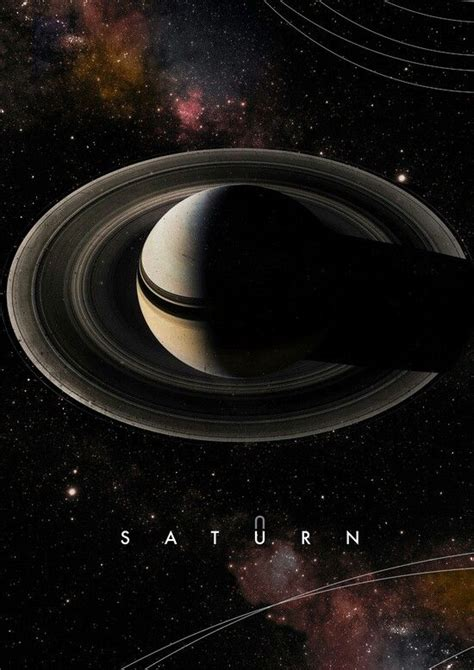 Saturno póster. | Space and astronomy, Planets, Cosmos space