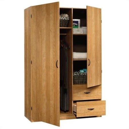 Sauder Beginnings Wardrobe Armoire in Highland Oak ...