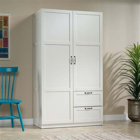 Sauder Select Wardrobe Armoire in White   420495