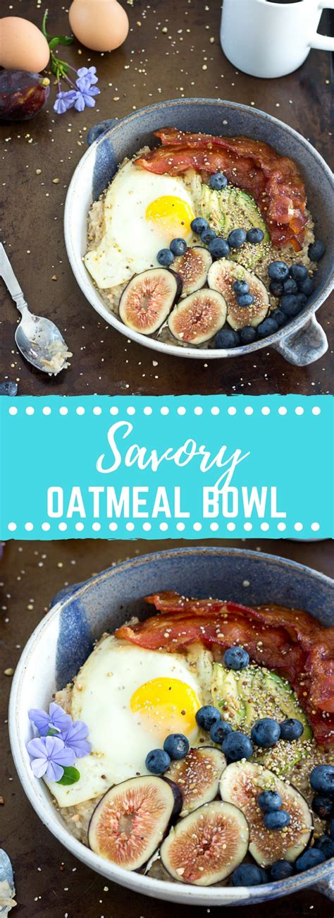 Savory Oatmeal Bowl with Eggs, Avocado, and Bacon | Love ...