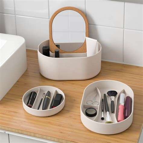 SAXBORGA Storage box with mirror lid   plastic cork   IKEA