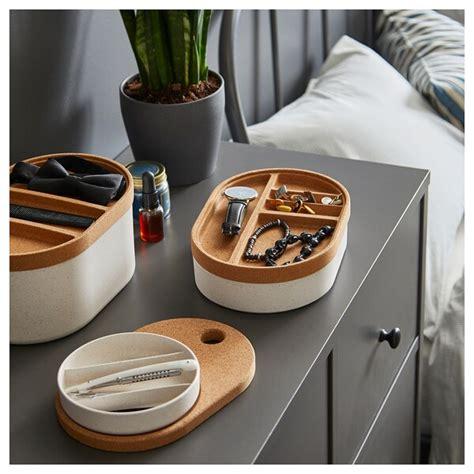 SAXBORGA Storage box with mirrored lid   plastic cork   IKEA