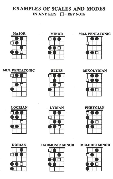 SCALES AND MODES ON BASS   Cours de guitare basse, Gammes ...