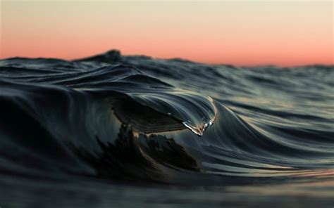 Scarica sfondi oceano, macro, onda, sunset, acqua per ...