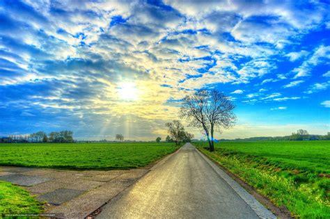 scaricare gli sfondi stradale, campo, alberi, paesaggio ...