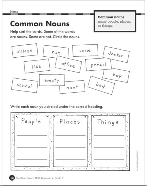 Scholastic Success With Grammar: Grade 2 Workbook by