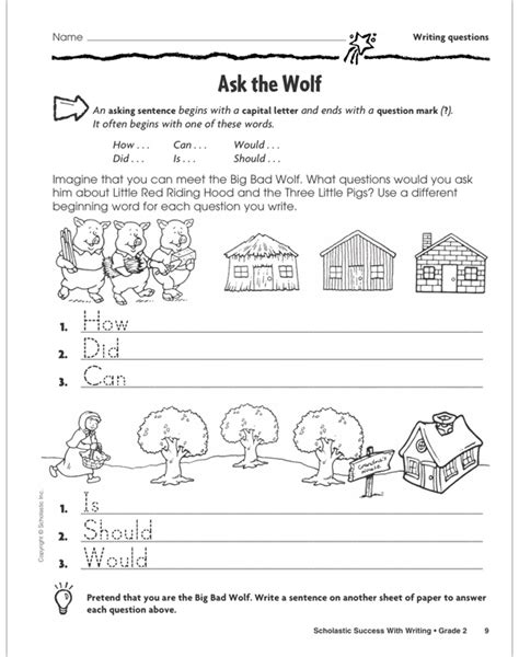 Scholastic Success With Writing: Grade 2 Workbook by