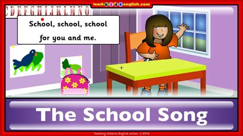 School song. Learn English with teachkidsenglish.com   YouTube