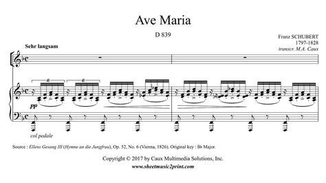 Schubert : Ave Maria   F Major   YouTube