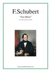 Schubert   Ave Maria sheet music for violin and bass clarinet