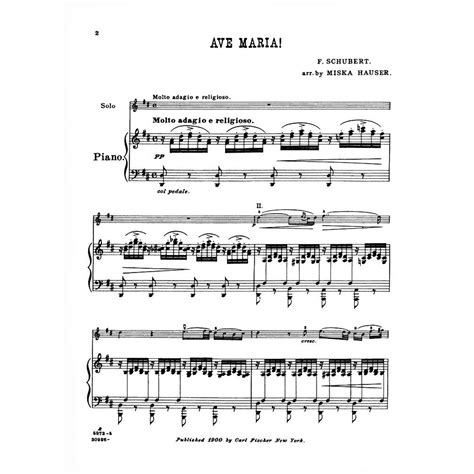 Schubert, Franz   Ave Maria D 839   for Violin and Piano ...