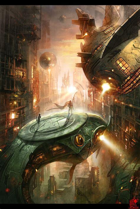 Sci fi world by ~zhaoenzhe on deviantART   Art, Fantasy ...