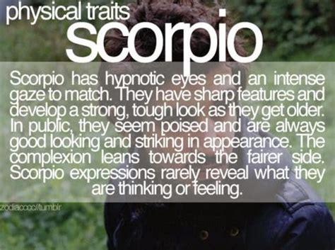 Scorpio Physical Traits | Scorpio Quotes