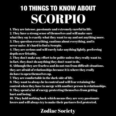 scorpio traits | Tumblr | Scorpio zodiac facts, Scorpio ...