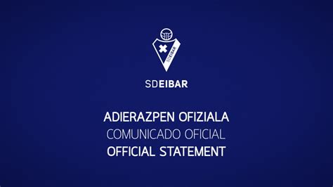 SD Eibar on Twitter:  COMUNICADO OFICIAL: SD Eibar se ...