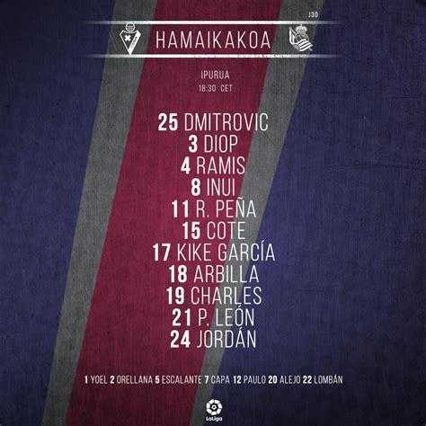 SD Eibar on Twitter:  HAMAIKAKOA | ALINEACIÓN | LINE UP ...