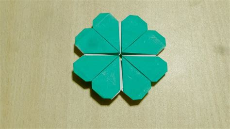 【DIY craft】How to make Four leaves clover . Origami. The ...
