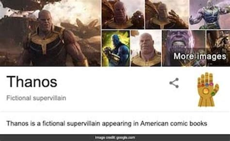 """Search """"Thanos"""" on Google and he will snap away your ..."""
