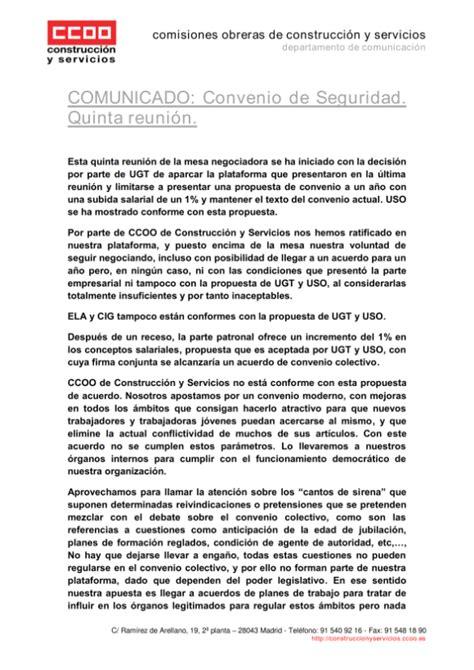 SECCION SINDICAL CCOO ILUNION SEGURIDAD/MADRID: Convenio ...