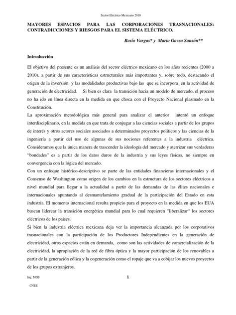 SECTOR ELÉCTRICO   Energía renovable   México