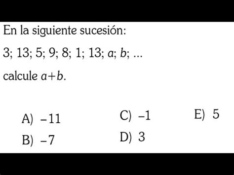 SECUENCIAS NUMÉRICAS SOLUCIÓN PREGUNTA EXAMEN ADMISION ...