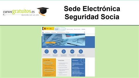 Sede electronica seguridad social   YouTube