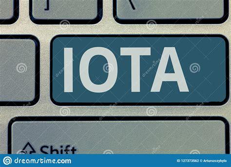 Segno Del Testo Che Mostra Iota Registro Cripto Della ...