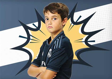 Segunda equipación Real Madrid niño #futbolmania # ...