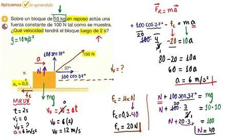 Segunda Ley de Newton   Dinamica Lineal   Problema 04 ...