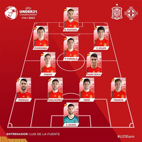 Selección de España: España sub 21 vs Irlanda del Norte ...