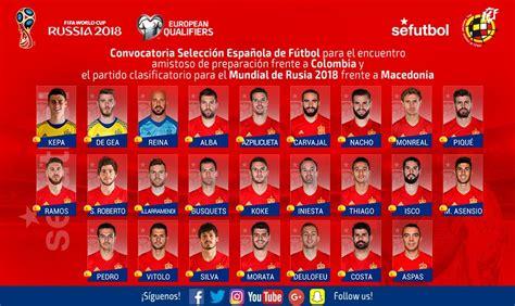 Selección Española de Fútbol on Twitter:  OFICIAL   Lista ...