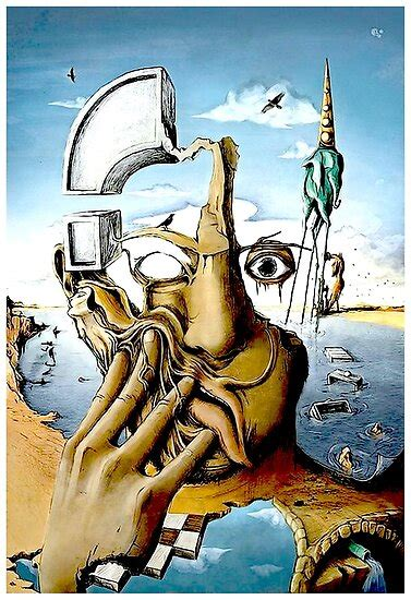 SELF PORTRAIT : Abstract Salvador Dali Print  Poster by ...
