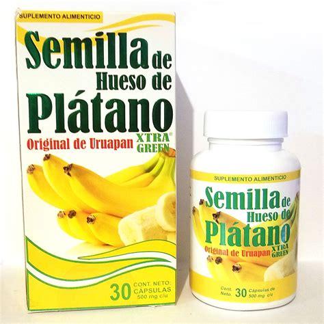 Semilla de Hueso de Platano 500mg  30 Capsules    SoloVital